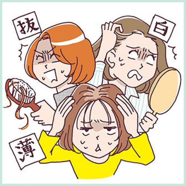 老け髪診断 | 髪も肌と同じくアンチエイジングしたい! 白髪・抜け毛・薄毛と戦う!